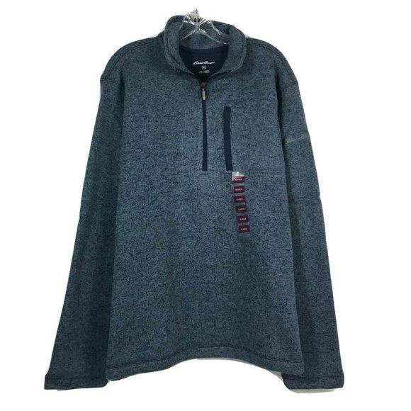 Eddie Bauer Mens Sweater Fleece Classic Quarter